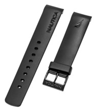Nautica Men's A20059G N20059G BFD 101 Chrono Black 22mm Original Watch Band - $21.45