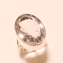 Panorama Pale Pink Amethyst Gemstone 925 Sterling Silver Ring Mens Heavy... - $28.07