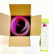 "Jumbo 22"" Pink Glitter Ribbon Bow Kit DIY For Car Wedding Christmas Gift... - $19.15"