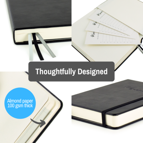 Goal Crazy 2019 Planner - 90 Day Productivity Journal, Black Leather, Undated image 2