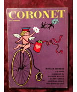 "CORONET February 1961 MARILYN MONROE MARGARET MITCHELL ""Gone With the Wind""  - €14,83 EUR"