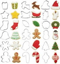 Wilton Holiday Shapes Metal Christmas Cookie Cutter Set, 18-Piece  - $14.17