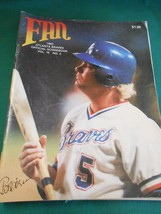 Great Collectible Atlanta Braves FAN MAGAZINE 1983 Scorebook..Unused - $9.49
