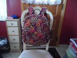 Vera Bradley Bookbag backpack in Sunset Safari EUC (2) - $53.50
