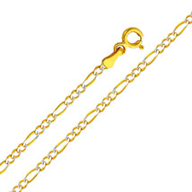 14k Two Tone Gold 2.1-mm Figaro Chain Necklace - $165.75