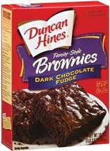 Duncan Hines Dark Chocolate Fudge Brownie Mix - 2 boxes image 1