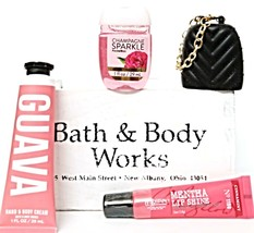 Bath & Body Works Guava Hand Lotion, Pocketbac, Chain Holder & Cinnamint Lip - $22.00