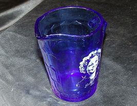 1930's Hazel-Atlas Shirley Temple Cobalt Blue Glass Pitcher AA20-2085 Vintage image 8