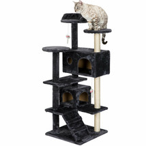 Cat Tree Tower Condo Furniture Scratch Post for Kittens Pet Bed - £48.55 GBP