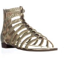 Marc Fisher Pepita Gladiator Zip Up Sandals, Gold Multi, 7 US - $29.75