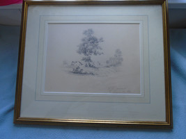 W H Townsend Pencil Drawing  Signed & Dated 1840 - $39.47