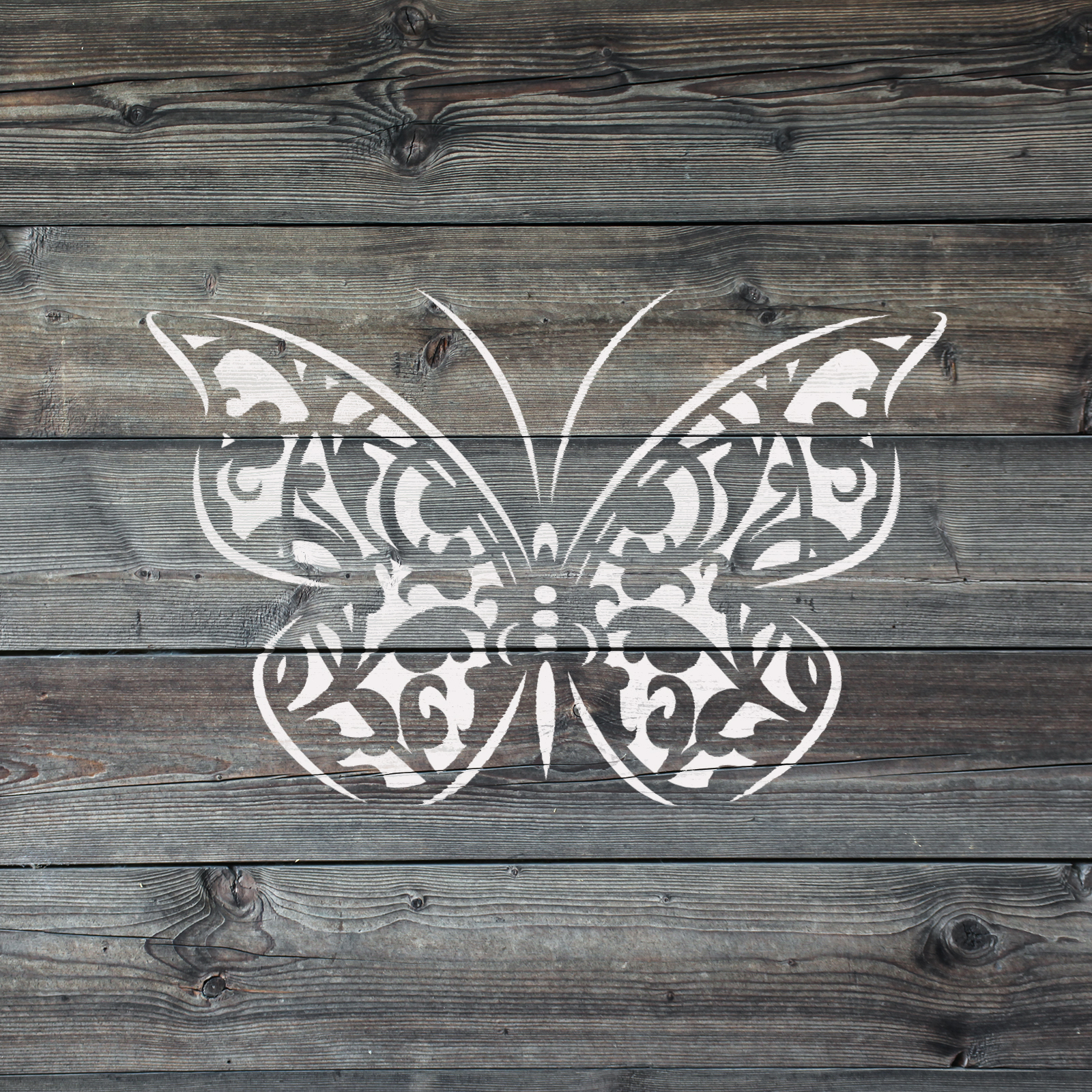 Butterfly Gothic Stencil - Reusable Stencils of a Gothic Butterfly