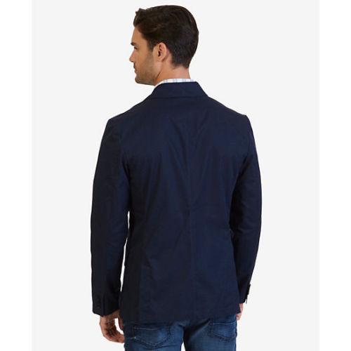 $198 Nautica Men's Kylon Twill Blazer, Navy, Size XL