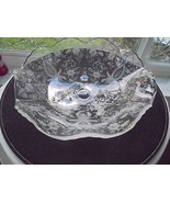 """Vintage Viking Glass Prelude Pattern Etched 3 Footed Bowl 9 1/2"""" Wide - $24.75"""