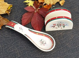 Royal Seasons Stoneware Snowman Holiday Napkin Holder and Spoon Rest - $15.00