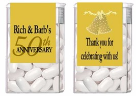 50th Wedding Anniversary Mint Mints Party Favors Labels Personalized Custom - $3.96+