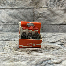 Vintage Coca Cola 6 Pack Tiny Bottles Doll House Miniature Toy  - $19.79