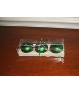 NEW IN BOXED SET world market 3 green Christmas ornament  Candles - $16.82