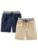 Simple Joys by Carter's Baby Boys' Toddler 2-Pack Shorts, Khaki, Navy, 3T - $23.28