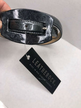 "NEW NWT Leatherock Gray Oblong Patent Leather Belt Rectangle sz Medium 34"" - $39.60"