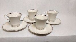 Pickard Sheffield White Footed Cup and Saucer Set BONE CHINA United Stat... - $79.19