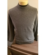 Land's End 100% Cashmere Charcoal Mock Neck Sweater - $36.00