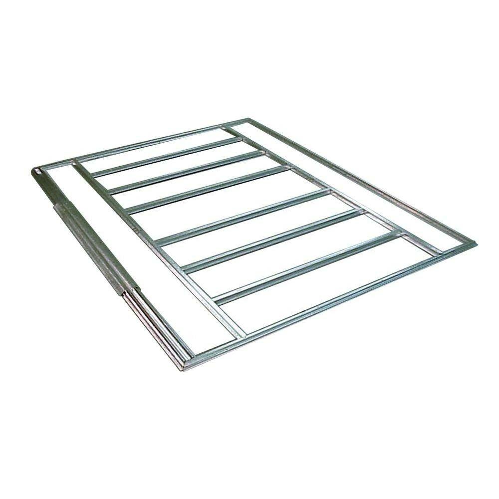 Storage Shed Steel w/ Floor Kit Lockable Double Door 8 x 6 Outdoor Garden New