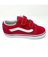 Vans Old Skool V Racing Red True White Baby Toddler Shoes - $39.95