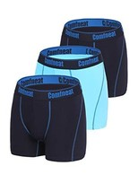Comfneat Soft Bamboo Spandex Men's Boxer Briefs 3 Pack Breathable Underw... - $33.05