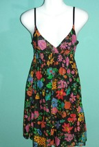 Planet Gold Fit & Flare Juniors Dress Floral Garden Spaghetti Strap  (xs) - $11.87