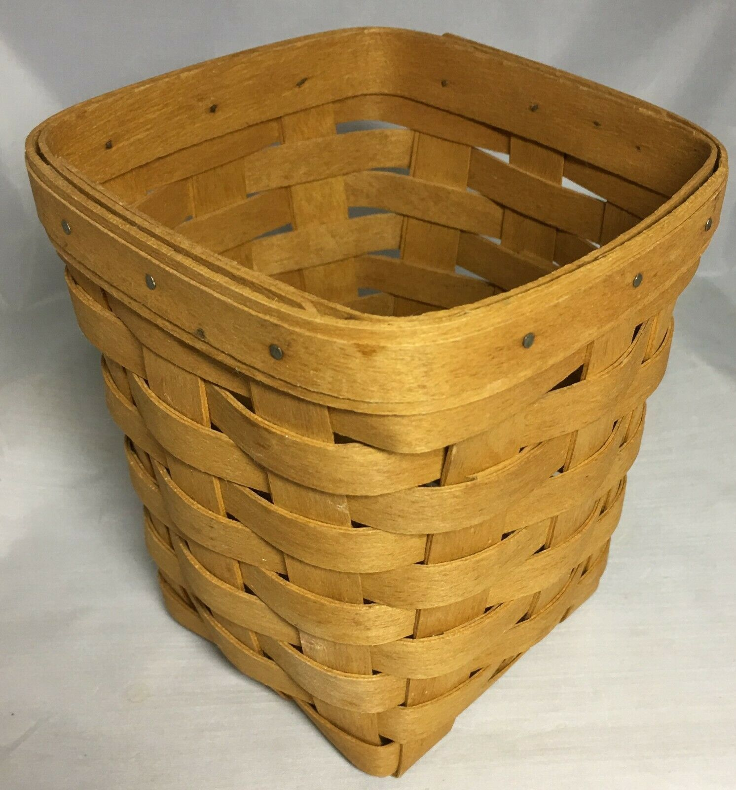 "Small Spoon Basket 6"" Tall Longaberger 1995 Basket"