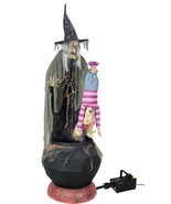 Life Size STEW BREW WITCH w/ KID Animated Halloween Prop Decor-FREE FOG ... - $284.78