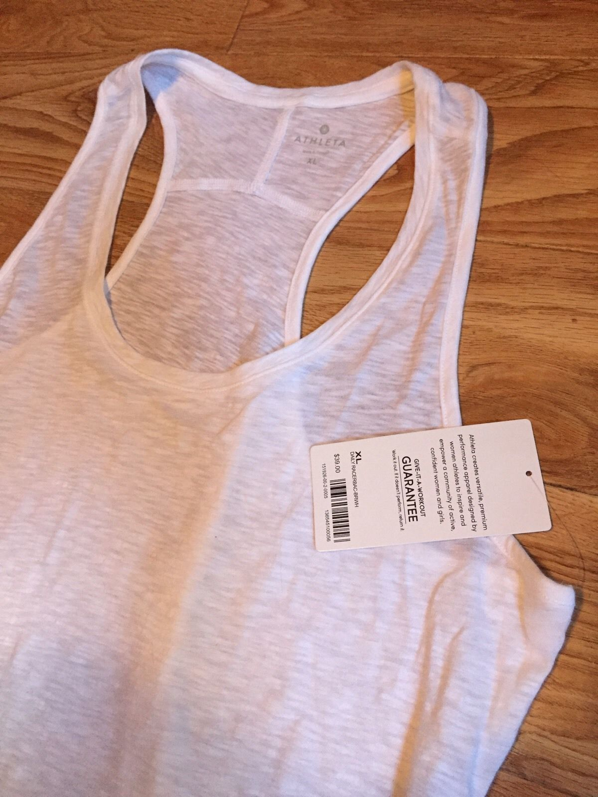 b674ae54e1184 Athleta Daily Racerback-BRWH White Sports and 50 similar items