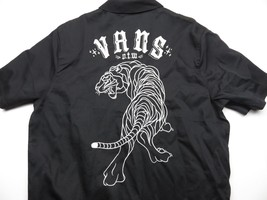 New VANS Tiger Button Up Black Embroidered Shirt Men's Size Medium New W... - $63.32