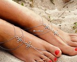 New Women Multi strati Beach a caviglia a piedi nudi Cavigliera catena di DL0 01