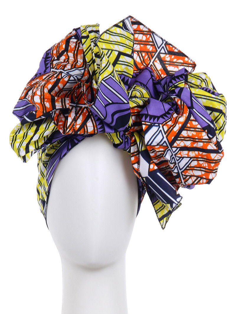 "African Print Cotton Scarf Wrap 71"" x 23"" Dashiki"