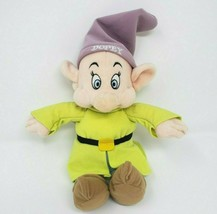 "10"" NEW W TAG DISNEY DOPEY BEAN BAG SHOW WHITE DWARF STUFFED ANIMAL PLUS... - $23.38"