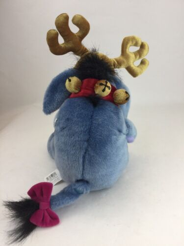 "Disney Store Exclusive Winnie Pooh Eeyore Donkey 13"" Christmas Reindeer Plush image 6"