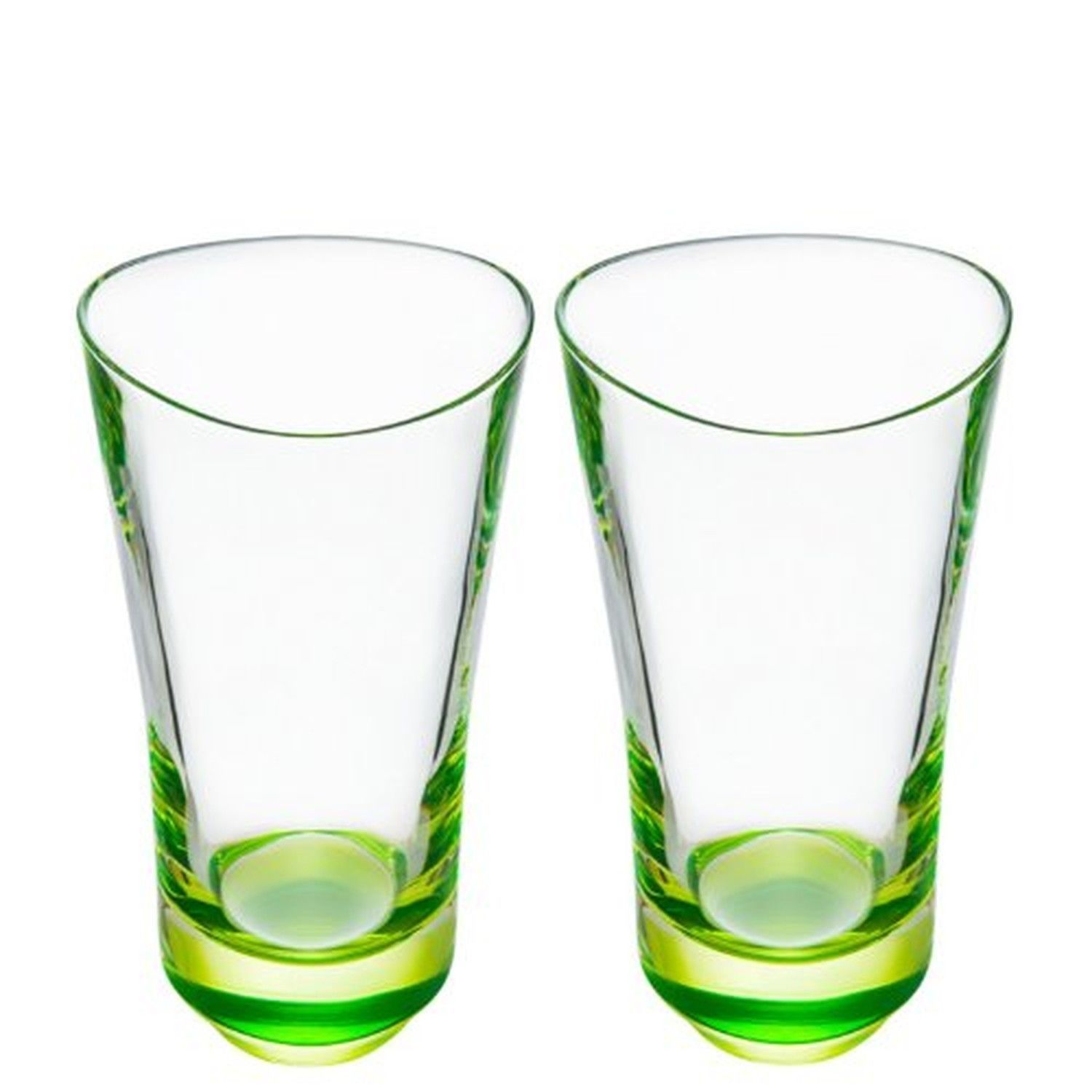 Orrefors Tre Highball Crystal Glass Set of 2 Lime          NEW