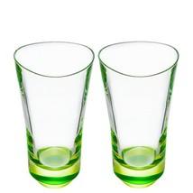 Orrefors Tre Highball Crystal Glass Set of 2 Lime          NEW - $60.00