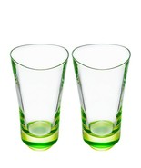 Orrefors Tre Highball Crystal Glass Set of 2 Lime          NEW - $60.00