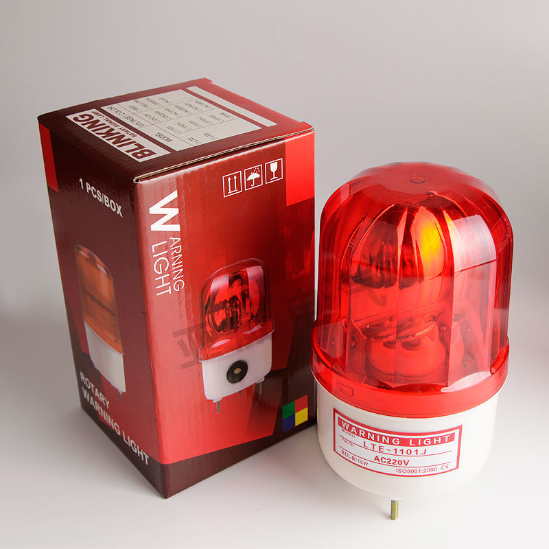 Primary image for NSEE LTE1101J Rotatory Red Strobe Warning Light Security Siren 90dB Outdoor IP54
