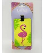 Vinyl Flamingo Bag Tag - New - $8.99