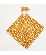 Giraffe Lovie Lovey Security Blanket Brown Plush Minky Baby Infant  - $46.99