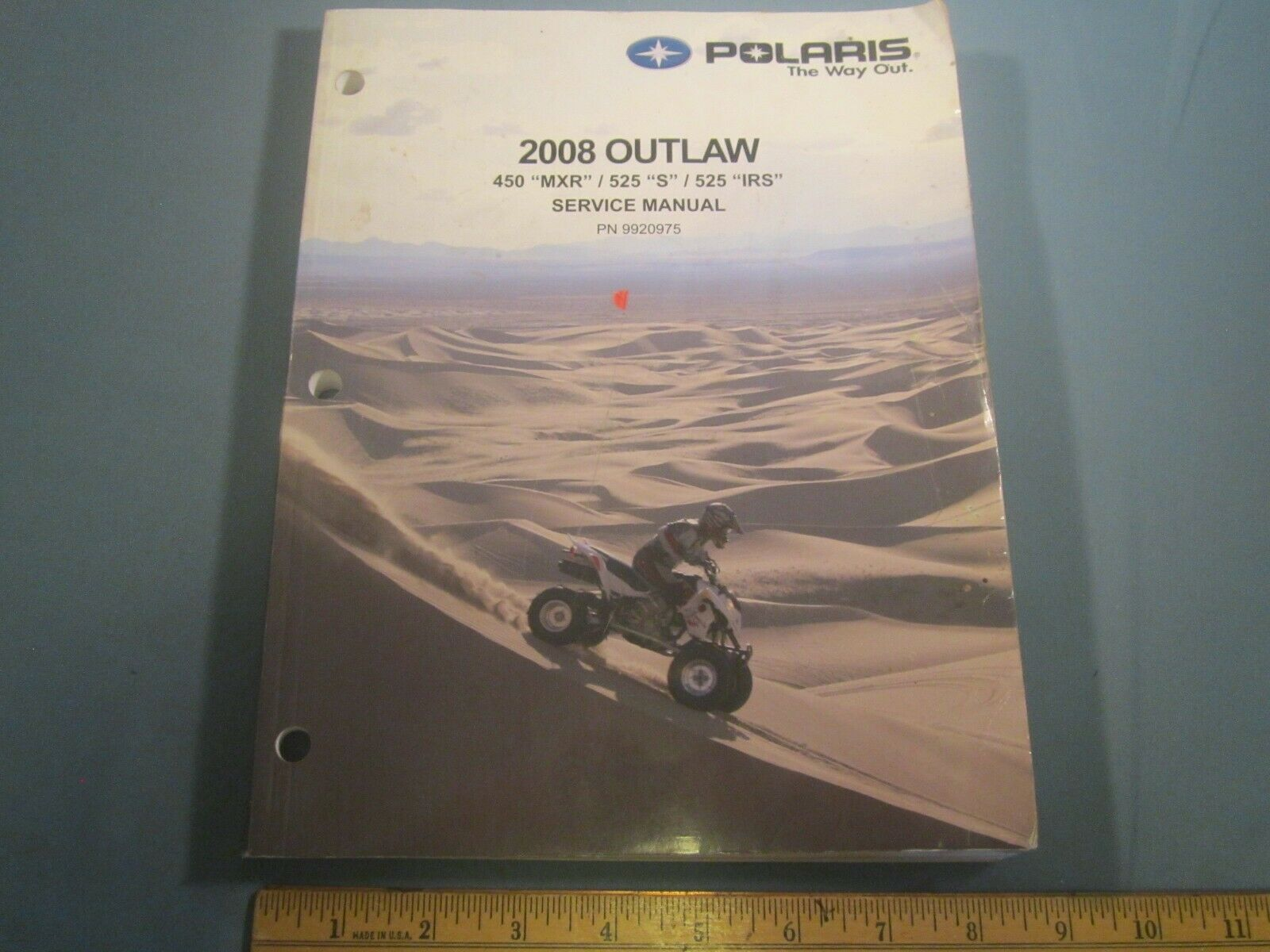 "POLARIS 2008 Outlaw Service Manual 450 ""MXR"" / 525 ""S"" / 525 ""IRS"" [Z142d] - $28.80"
