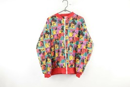 Vtg 80s Disney x Andy Warhol Mens Medium Mickey Mouse Reversible Bomber ... - $108.85