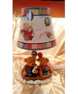 Mama & Papa Bears Baby 2003 nursery lamp w turn switch Child's Room Play... - $10.85