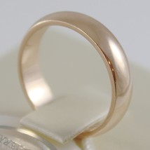 SOLID 18K YELLOW GOLD WEDDING BAND FLAT RING 5 GRAMS BY UNOAERRE MADE IN ITALY image 2