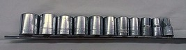 "EUC Craftsman 12 Piece Socket Set & Rack - 12 Point - 1/2"" Drive - Shallow - $20.44"