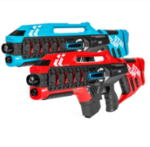 Set of 2 Kids Infrared Blaster Laser Tag Toy Guns w/ Life Tracker Red an... - $69.99